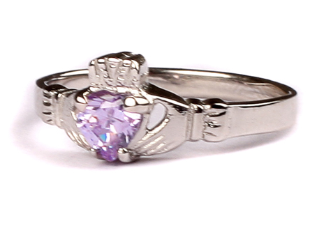 1abf9a962ecd7 Claddagh Ring with Alexandrite Cubic Zirconia June Month BirthStone
